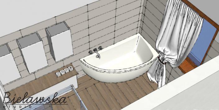 Łazienka na parterze - szkic 2